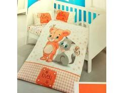 бебешки комплект чаршафи ранфорс пано