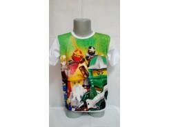 детска блуза къс ръкав сублимация момче
