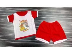 бебешки комплект блузка с къс панталон
